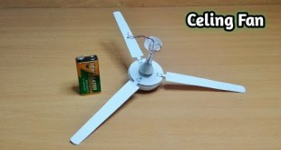 How To Make A Ceiling Fan ||  Homemade DC Ceiling Fan Science Project || DC 12v Ceiling Fan