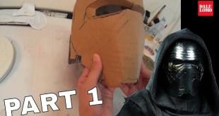 How to make Kylo Ren Helmet Part 1 - Cardboard Cosplay DIY