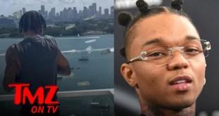 Swae Lee Throws Cash From Rooftop Patio During Lavish Birthday Celebration | TMZ TV