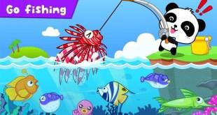 Permainan Memancing Bersama Panda Baby Bus - Film Video Game Anak Kartun Animasi - Belajar Ikan