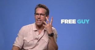Disney Free Guy Movie 2021 - Celebrity Interview w / Ryan Reynolds 5 mins