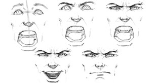 How to Draw Various Face Expressions - Step by Step