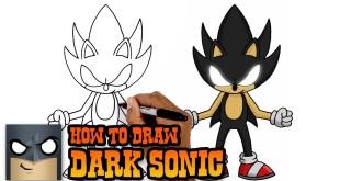 How to Draw Dark Sonic | Art Tutorial