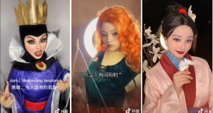 Disney Character and Movie Star Cosplay on Tik Tok China 2020