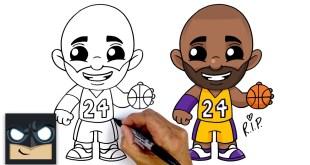 How To Draw Kobe Bryant | LA Lakers