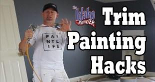 Interior Trim Painting Hacks.  DIY How To Paint House Trim Work.