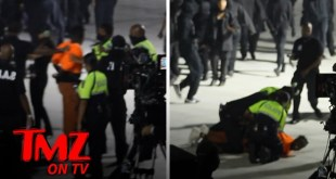 Kanye West Fan Sacked Hard by Security at 'Donda' Event After Rushing Stage | TMZ TV
