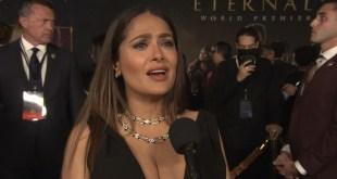 Marvel Studios Eternals Movie 2021 Celebrity Interview w / Salma Hayek HD