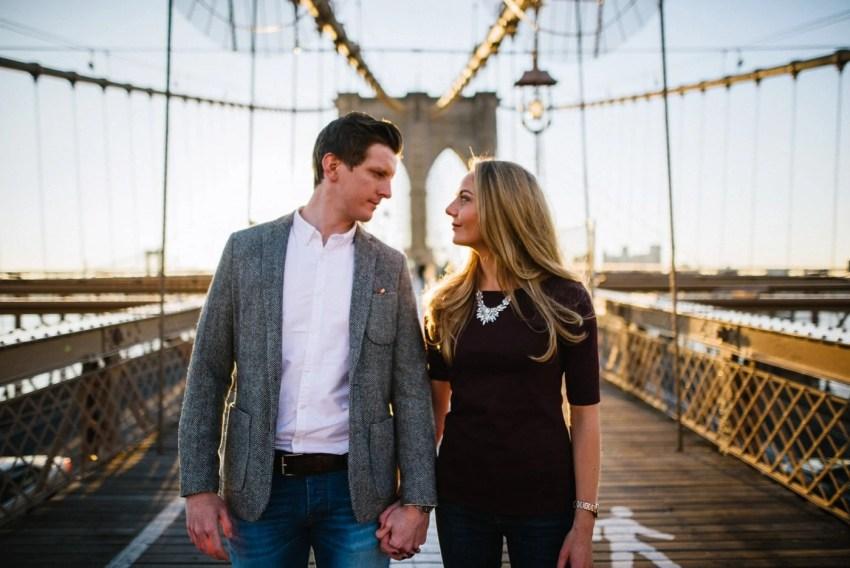 Brooklyn Bridge Engagement Photography New York City wedding photographer