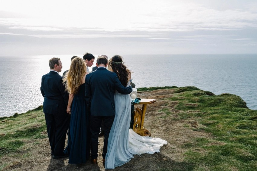Intimate wedding Cliffs of Moher Ireland