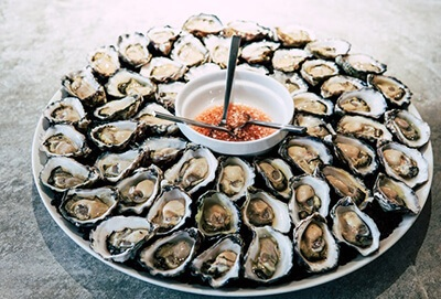 Oysters are a great source of zinc