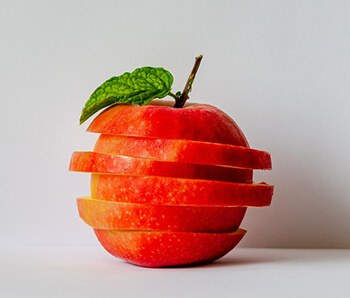 Apples are high in fibre and contain about more than four grams per serving