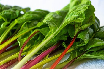 Leafy Vegetables contain insoluble fibre and are said to ease symptoms of irritable bowel syndrome