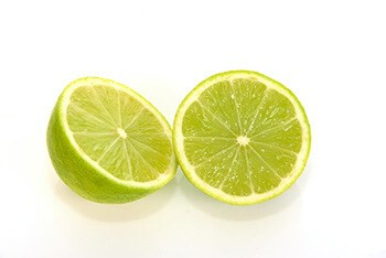 Make a citrus whitening recipe using baking soda and lime