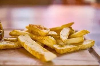 avoid eating burnt fries
