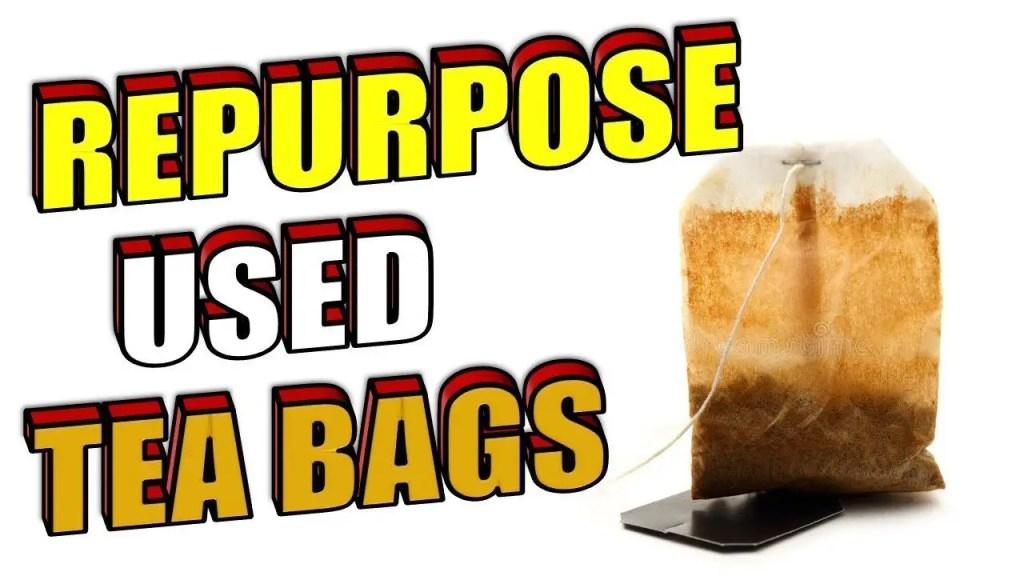 repurpose used teabags