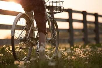 find an outdoor habit like biking