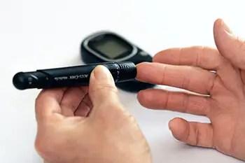 getting blood sugar using a machine