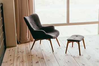 chair with a foot stool