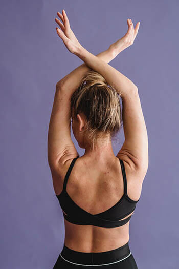 woman working on her posture