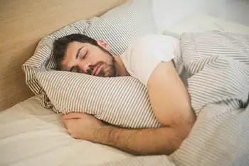 a person sleeping