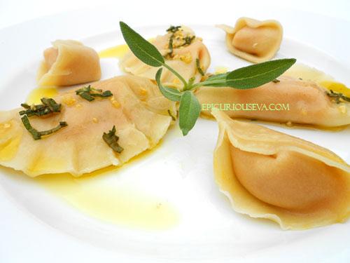butternut squash ravioli mezzaluna recipe