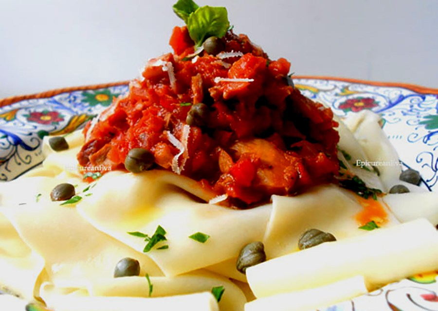 Pappardelle Pasta with Vegetable Bolognese Ragu