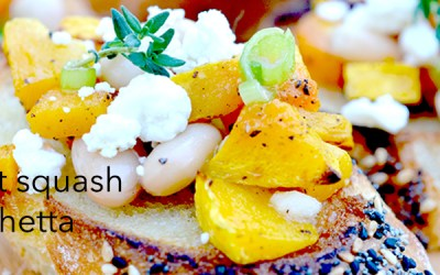 Autumn Butternut Squash, Cannellini Bean & Goat Cheese Bruschetta
