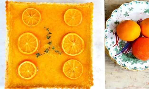 Kitchen Therapy ~ Sonoran Orange & Ginger Tart