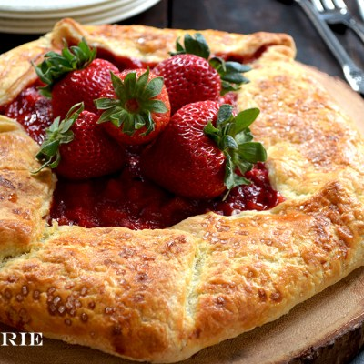 Rustic Strawberry – Rhubarb Galette