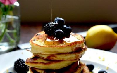 Lemon Blueberry Ricotta Pancakes
