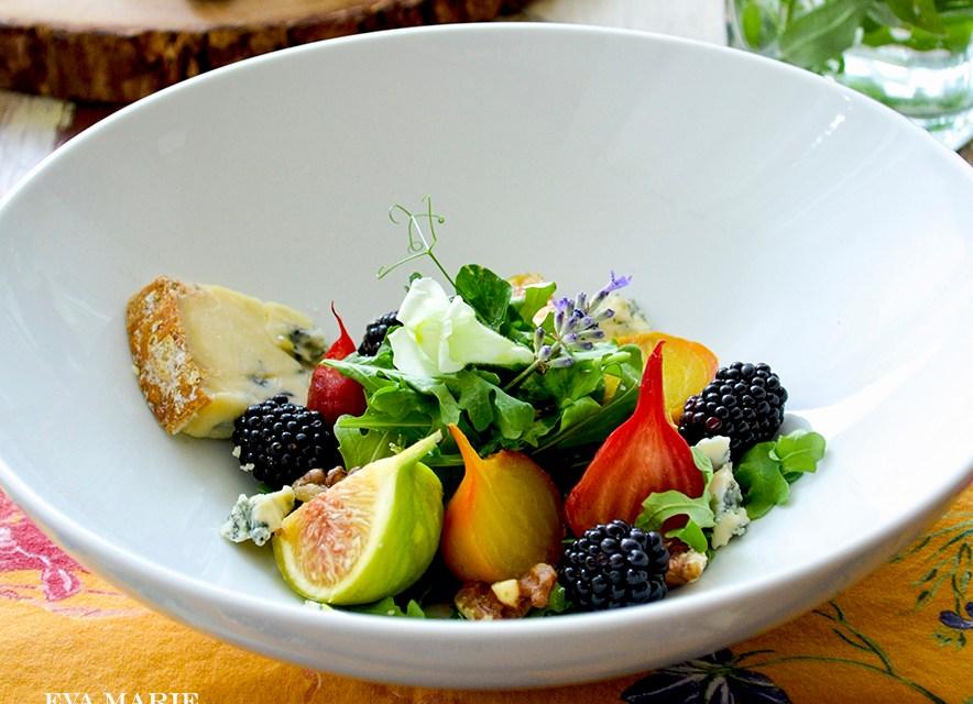 Summertime ~ Roasted Beet & Fig Salad with Stilton