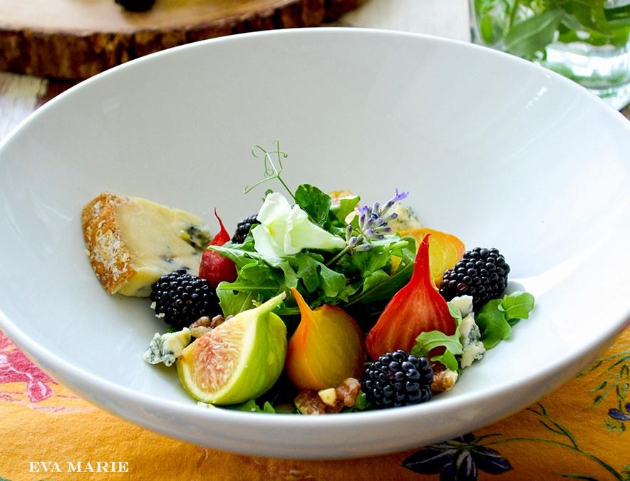 Roasted Beet & Fig Salad with Stilton