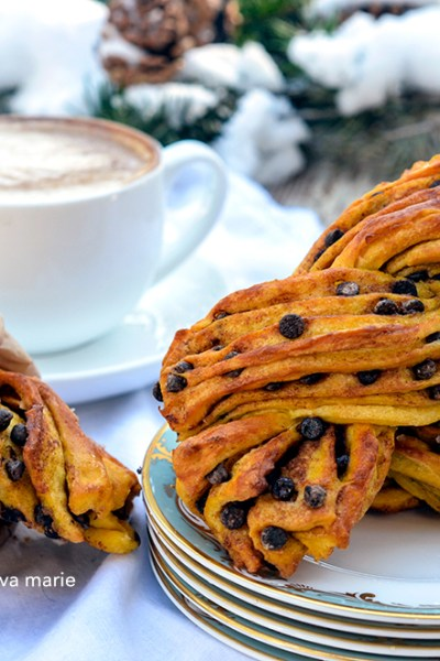 Pumpkin & Chocolate Twists