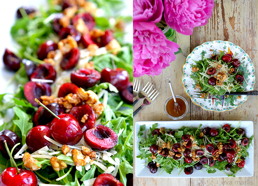 cherry salad collage
