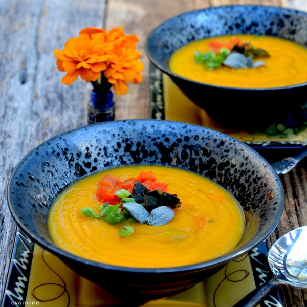 Southwest Butternut Squash and Poblano Soup