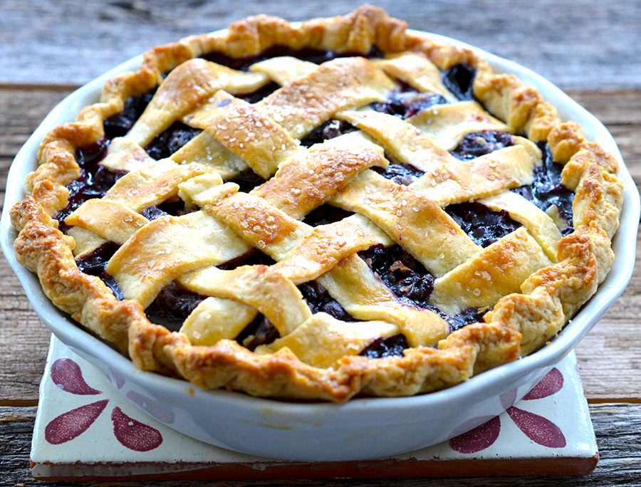 Sweet Cherry Blueberry Pie | Epicurean Eva