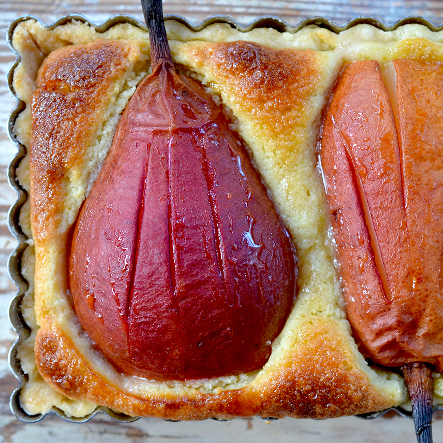 French Almond Pear Tart | Epicurean Eva