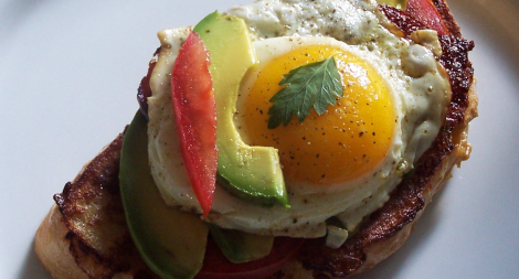 Avocado Tomato Bacon French Toast