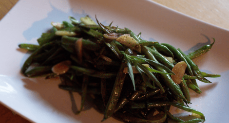 French Cut Green Beans with Tarragon Garlic and Balsamic Vinegar