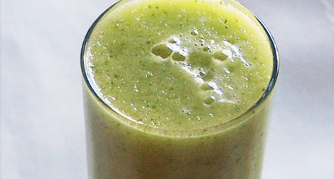 Honeydew Cucumber Mint and Ginger Smoothie