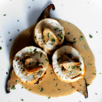 Roquefort and Mushroom Chicken Roulade