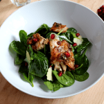 Chicken Pomegranate Spinach Salad