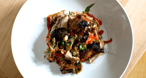Smoked Chicken Salad with Smoked Red Pepper