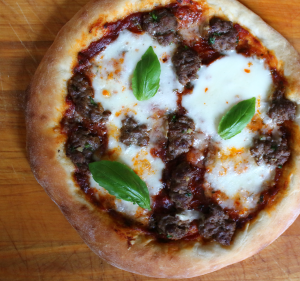 Mozzarella and Suasage Pizza
