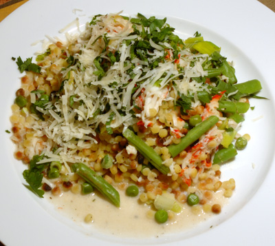 Salade de surimi aux fregola