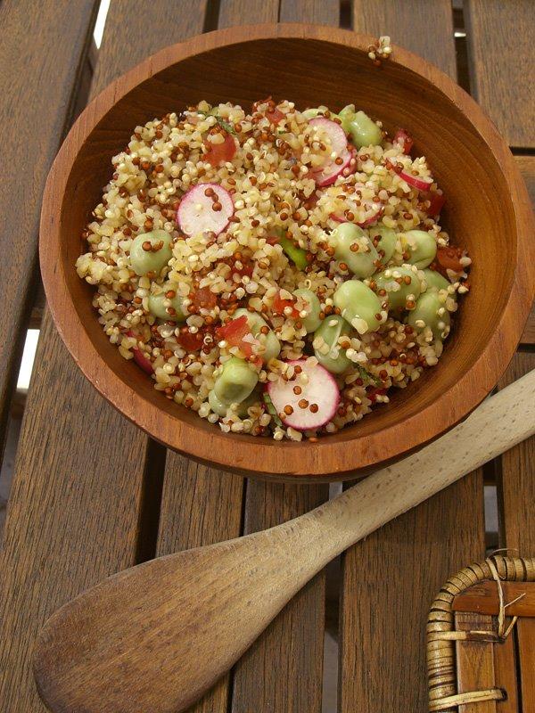 Quinoa gourmand aux fèves et au thon