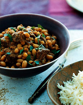 Lebanese Lamb and Bean Stew