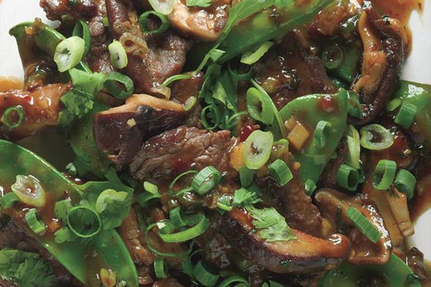 Beef, Shiitake, and Snow Pea Stir-Fry