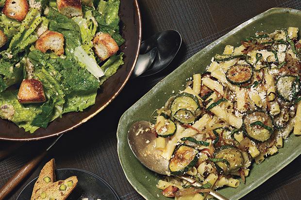 Caesar Salad with Sourdough Croutons
